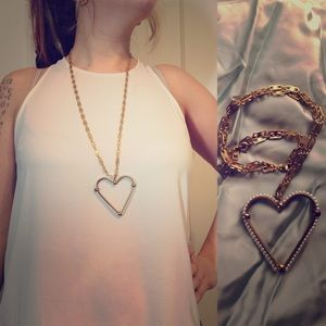 Antique pearl heart necklace