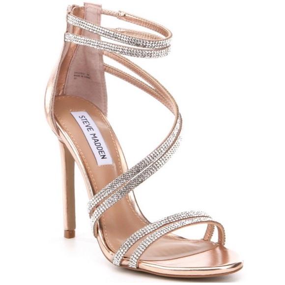 9a11e471fdc3 Steve Madden Rose Gold Sweetest Dress Sandal Heels.  M 58eab4a9f0928217e702c1fa