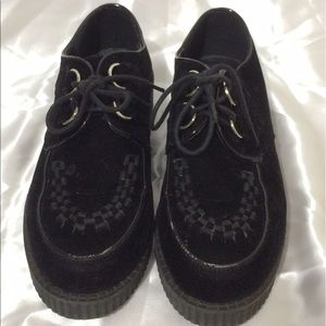 Vivacouture Shoes - Viva Black Velvet Creepers