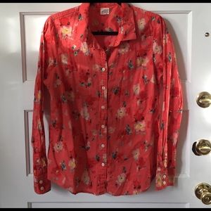 J.Crew perfect shirt with floral design