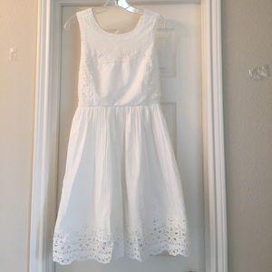 Esley Dresses & Skirts - Esley White Crochet Dress