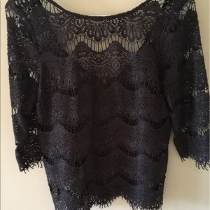 Zara Lace Blouse with Back Zip