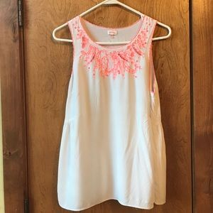 Pixley white sleeveless top- M