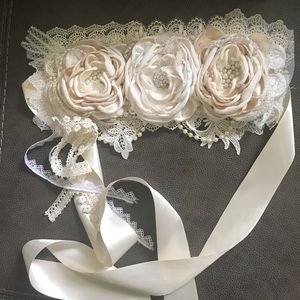 Maternity-Wedding-over the top fancy sash