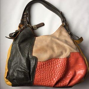 Buxton Leather handbag. Multicolor