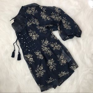 Abercrombie & Fitch Sheer Floral Shirt