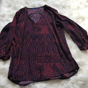 Francesca's tribal patterned blouse