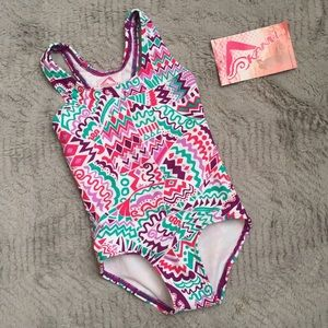 Kanu Surf Other - NWT Graphic Print One Piece Racerback Swimsuit