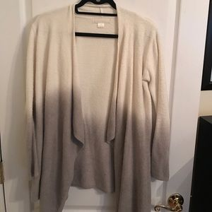 Barefoot Dreams Sweaters - Barefoot Dreams ivory and grey ombré cardigan S/M