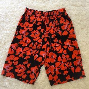 A.L.C. Pants - NWT [A.L.C.] Midnight Orange Silk Baxter Short - 4