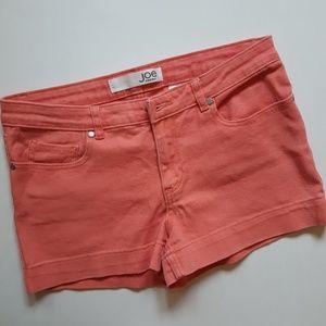 joe fresh coral denim shorts