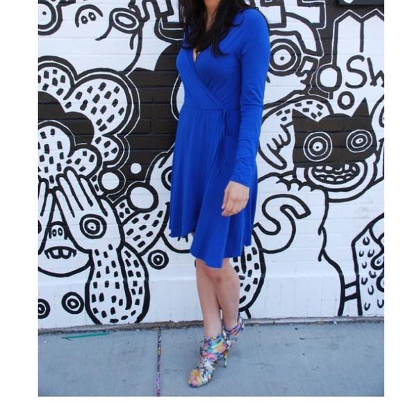 Humble Chic NY Dresses - Humble Chic NY blue wrap dress.