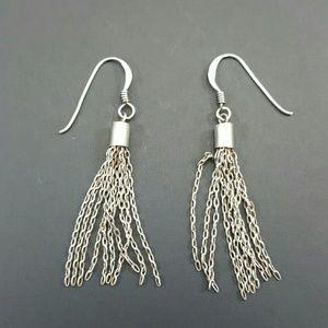 Vintage Jewelry - Vintage Sterling Silver Dangle Earrings
