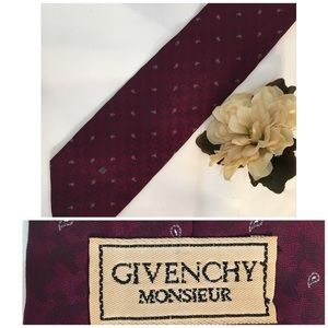 Givenchy Other - Givenchy Men's Red Paisley Print Silk Tie