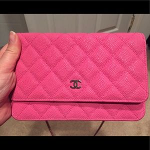 63f4c0ea8904 CHANEL Bags | Authentic Rare Wallet On Chain Fuchsia | Poshmark