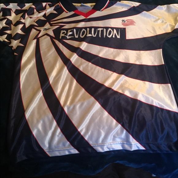 timeless design 22e57 b79d4 New England Revolution MLS soccer jersey