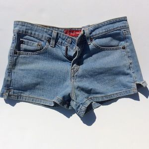Levi's Superlow Stretch denim shorts