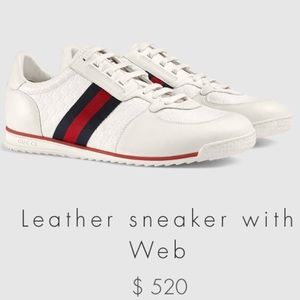 Gucci Shoes - Gucci Leather sneakers