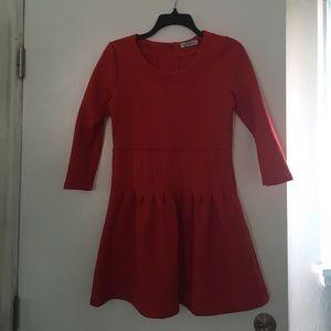 Scuba red dress
