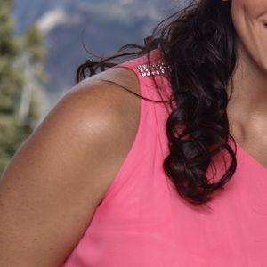 Adrianna Papell Dresses - Adrianna Adrianna Papell 1 shoulder chiffon dress.