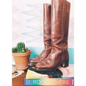 Vintage Braided Leather Boots