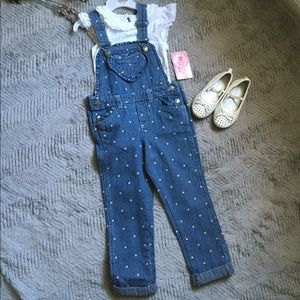 Nannette Other - NWT Nannette Overall set with Ruffle Top