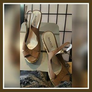 Bumper Shoes - BUMPER BROWN CANVAS & BEIGE ESPADRILLES