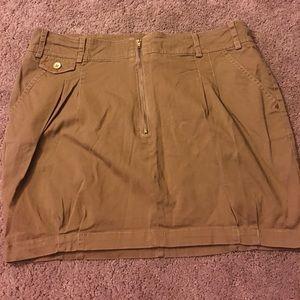 Pull&Bear Dresses & Skirts - Khaki Zip skirt