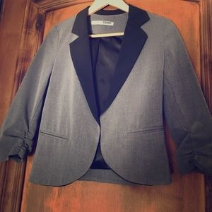 Necessary Objects Jackets & Blazers - Gray and Black Cropped Jacket