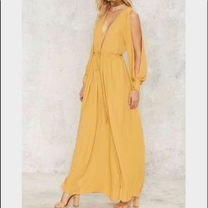 Nasty Gal Laguna Sunrise Slit Dress