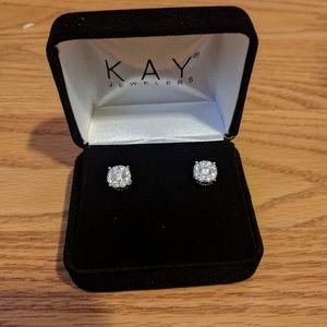 Kay Jewelers Jewelry - Kay Jewelers 14WG Diamond stud earrings