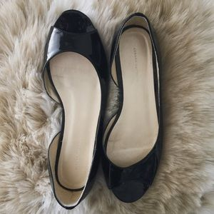 Banana Republic Shoes - Banana Republic patent peep toe flats
