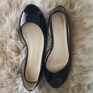 Banana Republic patent peep toe flats