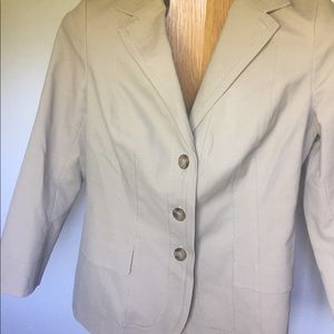 Anne Klein stretch tan blazer