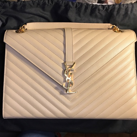 4a175ad19b7 Yves Saint Laurent Bags | Ysl Large Monogram Grained Leather ...