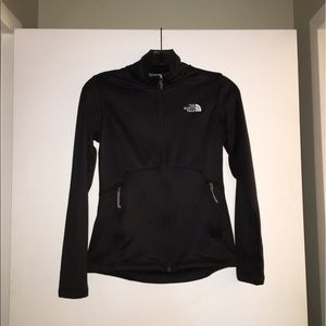 North Face black full zip fleece size XS