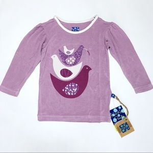 Kickee Pants Other - Kickee Pants Purple Glitter Bird Tee Bamboo
