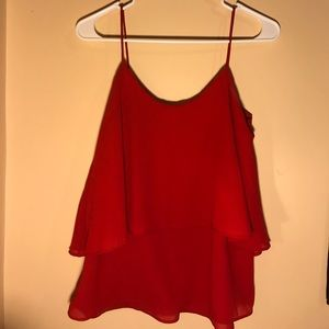Layered red top