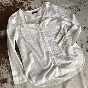 Calvin Klein Tops - NWT Calvin Klein jeans white button down top M