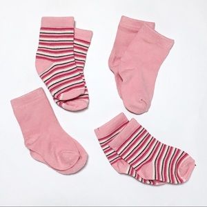Kickee Pants Other - Kickee Pants Lotus Pink & Stripe Socks Bundle