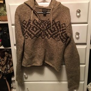 Abercrombie and Fitch full zip hooded knit sweater