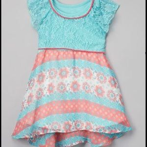 Nanette Baby Other - Peach and Aqua Spring Dress