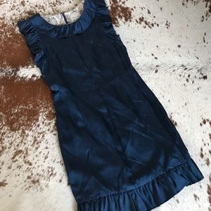 Anthropologie Dresses & Skirts - Anthropologie navy blue ruffle dress 2