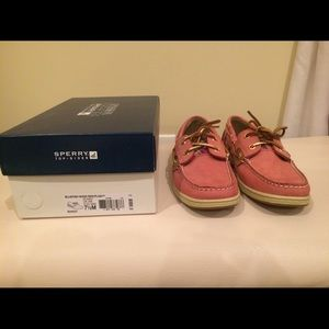 New Sperry Topsider Pink Bluefish Boat Shoes