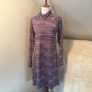 Soybu Dresses & Skirts - Soybu Athleticware Long Sleeve Purple Dress