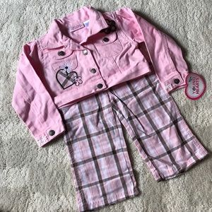 Other - 🌺NEW🌺Young Hearts 2pc Set Jacket & Plaid Pants
