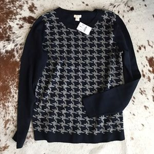 J. Crew Sweaters - NWT J Crew Factory houndstooth sweater S