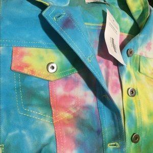 DV by Dolce Vita Shirts & Tops - Dolce vita SZ small denim vest tiedye