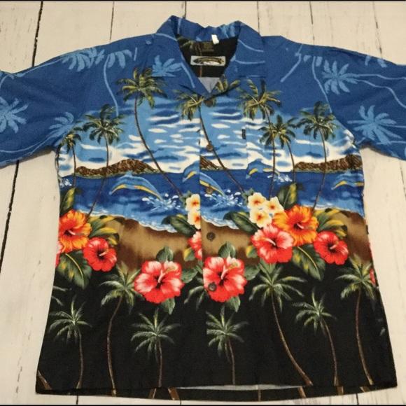 1e551345 Palmwave Hawaiian Shirt. M_58eadbd9713fdec80f02a081