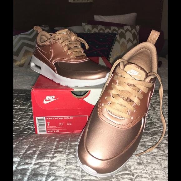 reputable site 4c0d1 df783 NIB Nike Air Max Thea rose gold size 7